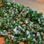 Rognons de lapin apéro Ciseler persil et échalote