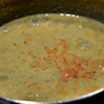 Soupe courgette et chorizo Mixer avec le chorizo