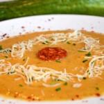 Soupe courgette et chorizo