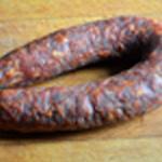 Tarte épinard et chorizo Enlever la peau du chorizo
