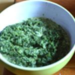 Tarte épinard et chorizo Crémer légèrement les épinards