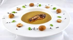 Velouté de châtaignes et foie gras Terminer