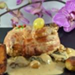 Caille et foie gras Caille et Orchidée