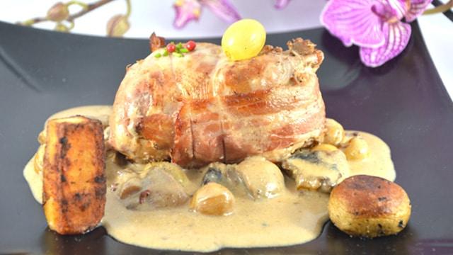 Caille et foie gras Terminer