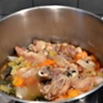 Jambon persillé Cuire la viande