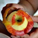 Pomme au four Eplucher la pomme