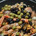 Risotto terre et mer Olives noir et verte
