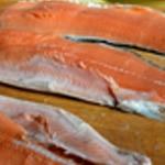 Saumon au four Lever les filets