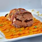 Saumon au four Poser le rôti sur le lit de carottes