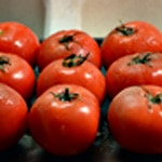 Tarte à la tomate Ranger les tomates sur une plaque