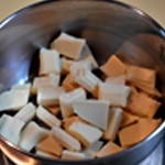Charlotte framboise et chocolat blanc Fondre le chocolat