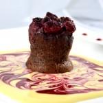 Moelleux au chocolat et framboises Terminer