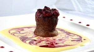 Recette de Moelleux chocolat et framboises
