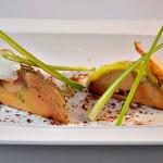 Foie gras et poires