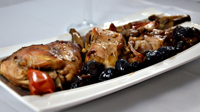 Lapin aux olives noirs Terminer