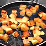 Omelette pomme de terre Ne pas les laisser bruler
