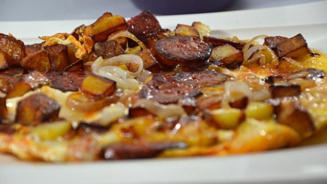 Omelette pomme de terre Terminer