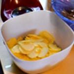 Parmentier au cananrd Trancher les pommes de terre