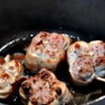 Paupiette de porc à la fondue de poireaux Griller les paupiettes
