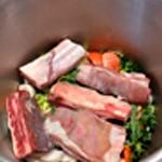 Bouillon de viande Ajouter la viande