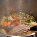 Bouillon de viande Laisser cuire doucement