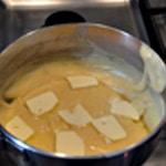 Crêpes soufflées Beurre pour empêcher de crouter