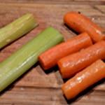 Hure de saumon Ajouter carottes et poireau