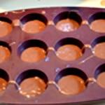 Muffins chocolat Remplir à moitié les moules