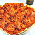 Pizza chorizo et tomate Terminer