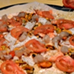 Pizza fruits de mer Tomates et moules