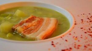 Recette de Soupe de poireaux et lard