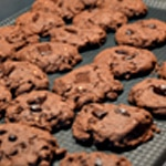 Cookies chocolat Aplatir avec la main