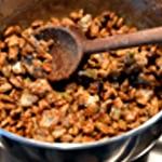 Financier à la pistache Caramélisées les pistaches