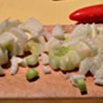 Soupe de grondin Couper le fenouil