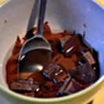 Cake au chocolat Fondre le chocolat