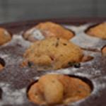 Muffin à la framboise Muffin cuit
