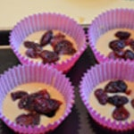 Muffin cranberry Ajouter les cranberry