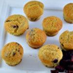 Muffin cranberry Vue de dessus