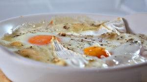 Recette de Oeufs cocotte camembert et jambon