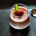 Pana cotta fraises Zoom