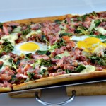 Pizza lardons mache Terminer