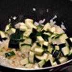 Risotto aux légumes Ajouter les courgettes
