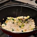 Risotto aux légumes Ajouter le riz