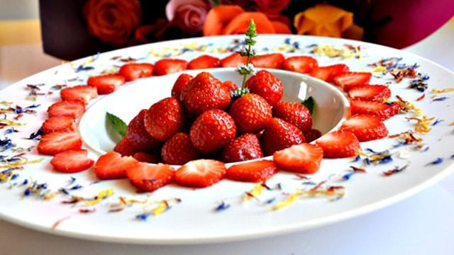 Salade de fraises Terminer