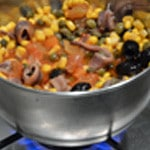Spaghettis aux anchois Laisser cuire doucement