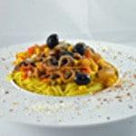 Spaghettis aux anchois Assiette