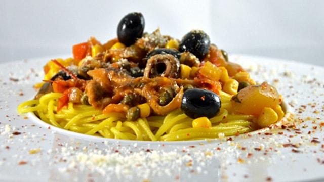 Spaghettis aux anchois Terminer