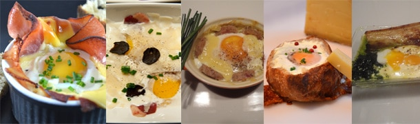 Recettes oeuf cocotte