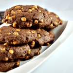 Cookies chocolat blanc et noir