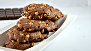 Recette de Cookies chocolat blanc et noir